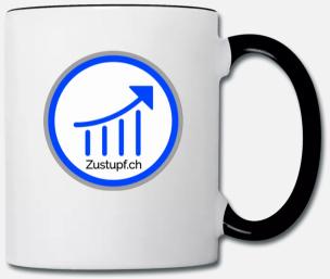 Tasse mit Logo Zustupf.ch